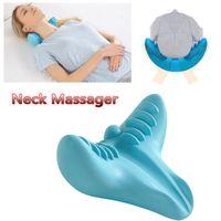 almohada de látex para el cuello al por mayor-Nuevo masaje suave C-Rest Soporte para el cuello Almohada Relajación Hombro Masaje de almohada total