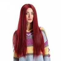 isıya dayanıklı saçlar kıvırcık toptan satış-2019 Dantel Ön Peruk Uzun Kıvırcık Kadın Peruk Isıya Dayanıklı Yapay Saç + Ücretsiz Yüksek Yoğunluk Sıcaklık Kadınlar Için zarif Peruk