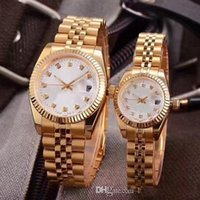 Wholesale womens watches digital for sale - 8 Style Classic Automatic Movement glide smooth second hand Mechanical Fashion Mens Womens date just Watch Stainless Steel Strap Watches