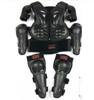 lila radfahren trikots setzt groihandel-Kind Motorrad Motocross Body Jacke Weste Rüstung Kinder Brust Wirbelsäule Schutzausrüstung mit Ellenbogen Schulter Knieschoner Für 5-14 Jahre