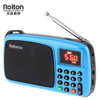 Wholesale am fm radio resale online - Rolton Portable Mini FM Radio dab radios portatil am fm radyo Music Player Speaker TF Card USB For Phone with LED Display