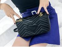 siyah kadın modası toptan satış-Kadın omuz çantaları kadın zincir çanta crossbody çanta moda 27 CM Siyah deri çanta kadın çanta çanta 2018