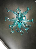 Wholesale china sale led resale online - Newest Hot Sale Handmade Blown Murano Glass Chandeliers Hanging LED Murano Glass Pendant Lights Made in China