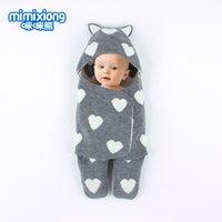 neugeborene wickeltücher großhandel-NewBorn Solid Love Schlafsack Decke Wickel Baby Bein Schlafsack Boy Girl Wrap Swaddle Dropshipping Swaddle Wrap