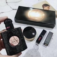 ingrosso trucco fondazione aria-HOT Brand Makeup Maquillage Matte rouge a levre Rossetto + Profumo 30ml + Air Cushion Foundation 4pcs in 1 Set