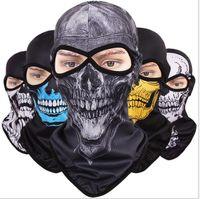 ingrosso maschera facciale del cranio dell'esercito-Maschera Full Face maschera traspirante ad asciugatura rapida Maschera CS anti-terrorismo Fantasma Maschera protezione solare Maschera integrale tattica Army 12 colori LJJZ21