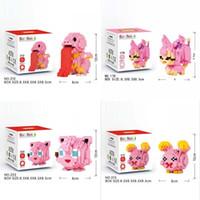 figürlü pokemon çocukları toptan satış-8.5 cm Pokemon Enlighten Yapı Tuğlaları Monte Cep Canavar Serisi Karikatür Pikachu Blokları Oyuncaklar Çocuklar için Pokeemon Rakamlar