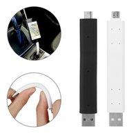 suporte de carro flexível iphone venda por atacado-1 pc mini apoio de plástico dobrável suporte usb cabo de dados suporte do carro suporte de fio duro flexível para iphone android
