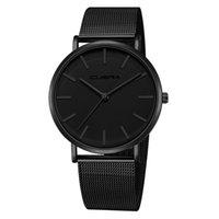 relógios de pulso preto genebra venda por atacado-NEW Black GENEVA Relógio de Aço Inoxidável Strap men Dress Watch 2019 Esporte de Alta Qualidade Casual Relógio de Pulso de Presente Para dropshipping