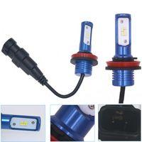 Wholesale xenon h7 car lamp resale online - 2pcs Car Fog Light H1 H3 LED W High power H11 Fog Lamp Daytime Driving Lights V V Xenon White K H7 bulb