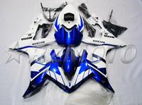 yamaha motorrad verkleidungen verkauf großhandel-Neues Injection Fairing Kit passend für YAMAHA YZFR1 04 05 06 YZF R1 2004 2005 2006 YZF1000 Motorrad ABS Verkleidungen Set heiße Verkäufe weiß blau