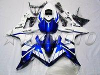 venda de carrinhos de motocicleta yamaha venda por atacado-Novo Kit de Carenagem de Injeção apto para YAMAHA YZFR1 04 05 06 YZF R1 2004 2005 2006 YZF1000 Motocicleta ABS Carenagens definir vendas quentes branco azul