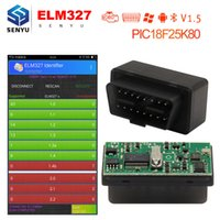 Wholesale obd2 elm327 scanner resale online - ELM327 V1 Bluetooth With PIC18F25K80 Chip OBD2 OBD II Diagnostic Scanner Tool elm v1 For Android PC OBD2 Scanner