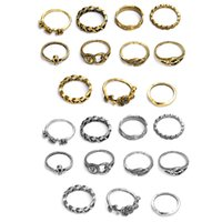 Wholesale gemstone rings for sale - Eleven Sets Of Rings Different Styles Gold And Silver Rings Fashion Classic Gemstone Rings For Best Friends Or Relatives