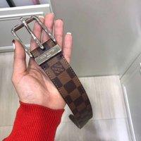 ingrosso cinture di marca designer marrone-Cintura di marca Cinturino in pelle marrone con fibbia ad ago Cintura firmata da uomo con scatola Cintura di lusso da donna di alta qualità