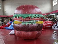 ingrosso gommoni pubblicitari in vendita-advertising inflatable hamburger model customized inflatable shop decoration food model for sale inflatable burger for advertising