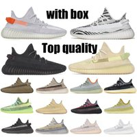 Wholesale newest shoes out for sale - Group buy 2020 Newest Kanye West V2 Running Shoes Cinder Tail Light Zebra Top Quality Yecheil Cream Desert Sage Men Women Sneakers with half