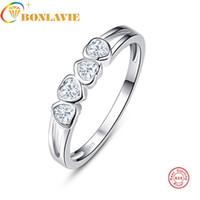 joyas para la venta de aniversario al por mayor-Auténtico 100% 925 plata esterlina Love Forever Ring Clear CZ Jewelry For Women Wedding Anniversary Presents Luxury Sale