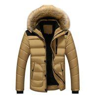 ingrosso nuovi outwear-Cappotti Uomini parka casuale designer di New Giacche invernali uomini di stile spessi Outwear pile con cappuccio giacche calde Cappotti Uomo Abbigliamento