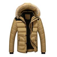 erkek pantolon ceketleri toptan satış-Tasarımcı Yeni Stil Kış Ceketler Erkekler Coats Erkekler Parkas Casual Kalın Dış Giyim Kapşonlu Polar Ceketler Paltolar Erkek Giyim Isınma