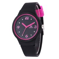 Wholesale watch women jelly resale online - 2019 fashion women Inter color soft rubber candy jelly watch new trend ladies students casual dress quartz watches