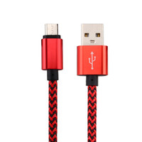 Wholesale braided wire cable online – Micro USB Type C M FT A Wave Braided Aluminum Metal Adapter Charger Cable Nylon Braided Cord Wire for Smart phone