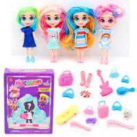 moda belleza niños al por mayor-Muñecas peinados de moda para niñas Niños de interior Niñas Cabello belleza muñecas sorpresa para niños Buen regalo Dropshipping