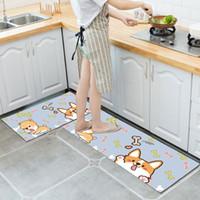 ingrosso gattino giallo-Jiji scimmia cartoon carino gattino pavimento in cucina bagno assorbente tappetino in velluto PVC antiscivolo tappeto