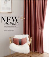 Wholesale window color lights for sale - Group buy Retro Sequoia Light Luxury American Nordic Velvet Curtain Solid Color Flannel Curtain Custom Living Room Bedroom Bay Window