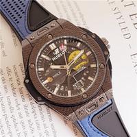 bandas especiales de reloj al por mayor-Mejores ventas de relojes Hombres especiales Negro Dial Banda de goma Oro Acero inoxidable Automático Mecánico HB Men Relojes para hombre Relojes