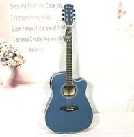 Wholesale rosewood boxes resale online - standard inch folk acoustic guitar electric box EQ Basswood mid range missing matte beginner guitar
