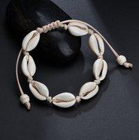 ingrosso accessori per la caviglia-Cavigliere per le donne conchiglia gioielli piede estate spiaggia bracciale a piedi nudi caviglia su gamba cinturino alla caviglia accessori bohemien GB386