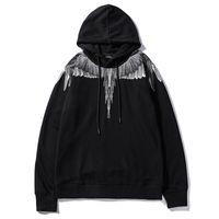 kadınlar için kaliteli hoodies toptan satış-19ss Marcelo Burlon Hoodies Erkek Kadın Streetwear Ekip Boyun Yüksek Kalite Pamuk Marcelo Burlon Tişörtü Kaykaylar MB Hoodie