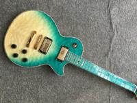 Wholesale eye guitar resale online - high quality custom LP electric guitar quilted maple top guitarra bird eye fingerboard Gold hardware