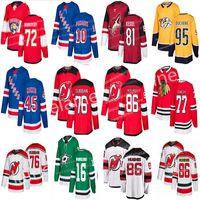 nouveaux chandails de hockey achat en gros de-2019 New Jersey Maillots de Hockey des Rangers de New York 45 Kaapo Kakko 10 Artemi Panarin Devils 76 P. K. Subban Maillot 86 Jack Hughes