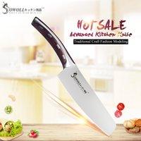 şef pişirme toptan satış-Sowoll Marka 4cr14mov Paslanmaz Çelik Bıçak Tek 6