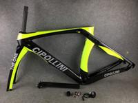 ingrosso cornice gialla bicicletta-Telaio bici da corsa RB1K THE ONE Yellow Fluo Yellow in carbonio Telaio telaio + forcella + forcella in carbonio per bici da strada