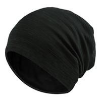 ingrosso sottili pipistrelli-Uomini e donne Berretti righe Copricapo sottile traspirante di cotone tessuto a maglia Cappelli