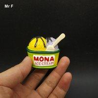 ingrosso crema artificiale-Miniature Squisito posteriore piana resina modello Ice Cream artificiale giocattolo fai da te