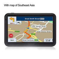 gps chinês ao ar livre venda por atacado-5 polegadas Touch Screen Car GPS Sistema RAM256M + ROM8GB FM AV-IN SAT NAV Com GPS grátis Mapa de viagem