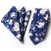 taobao modelle großhandel-Hersteller Lager neue Blumenmode Baumwolle Krawatte Baumwolle Quadrat Handtuch Krawatte Handtuch Set Taobao Explosion Modelle 6 cm 100 Stück