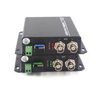 receptor de transmissor de vídeo hd venda por atacado-3G HD SDI Vídeo / Áudio / RS485 dados sobre fibra óptica conversores de mídia Transmissor Receptor de fibra única SFP 10 km LC HD vídeo