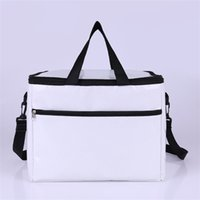 Wholesale thermal insulated cooler bags for sale - Oxford White Keeping Portable Bag Water Proof Keep Warm Package Single Shoulder Cooler Insulated Thermal Zipper Hot Sale hpE1