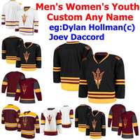 Wholesale Arizona State Sun Devils Jerseys Mens Joey Daccord Jersey Anthony Croston Gage Hough David Norris College Hockey Jerseys Custom Stitched