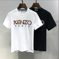 t shirts moda para homem venda por atacado-FASHION 2019 Marca Designer T-shirt dos homens Carta T-shirt dos homens de Alta Qualidade Roupas de Marca de Manga Curta T-shirt Tamanho m-3XL