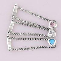 joyas de plata esterlina rosa anillo al por mayor-Auténticos 925 anillo de plata Pinkblueclear Spirited anillos del corazón para la fiesta de boda regalo de las mujeres Europa fina joyería