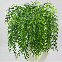 duvar çatalı toptan satış-5 forks yeşil Asılı Bitki Yapay Bitki Söğüt Duvar Ev Dekorasyon Balkon Dekorasyon Çiçek Sepeti Aksesuarları GB141