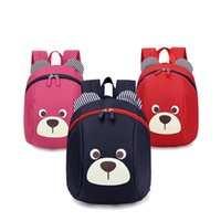 linda mochila de guarderia al por mayor-2019 Edad 1-3 mochila para niños pequeños de anti-perdió niños bolsa de bebé animal lindo del perro de los niños del morral del bolso de escuela Kinder oso mochila escolar