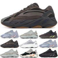 Wholesale best summer hiking shoes online - 700 V1 Mauve V2 Static Wave Runner Best Quality Kanye West Running Shoes Men Women Sports Shoes Designer Sneaker With Box