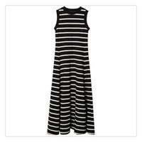 gerisiz çizgili maxi elbise toptan satış-Bayan Backless Elbise Yaz Elbiseler Resmi Elbiseler Akşam Seksi bayanlar Çizgili Uzun Maxi Akşam Siyah Ve Beyaz Çizgili Bir Çizgi Maxi Elbise